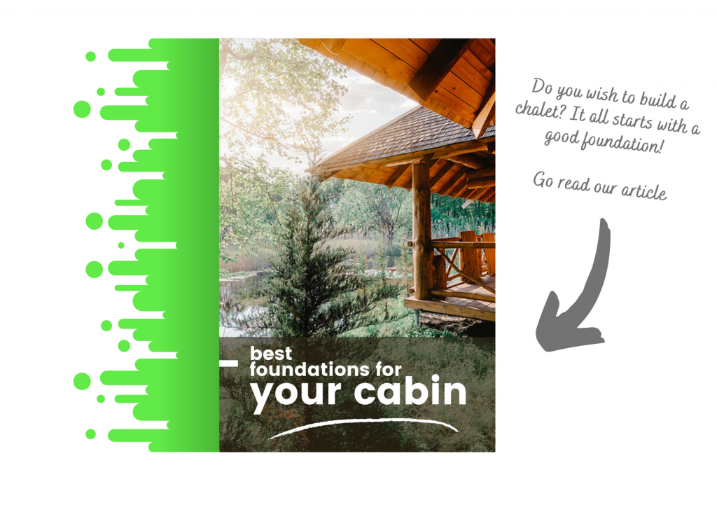 You see a link to an article about cabins