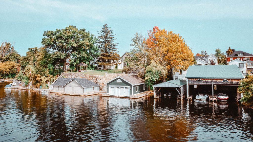Boathouse on screw piles