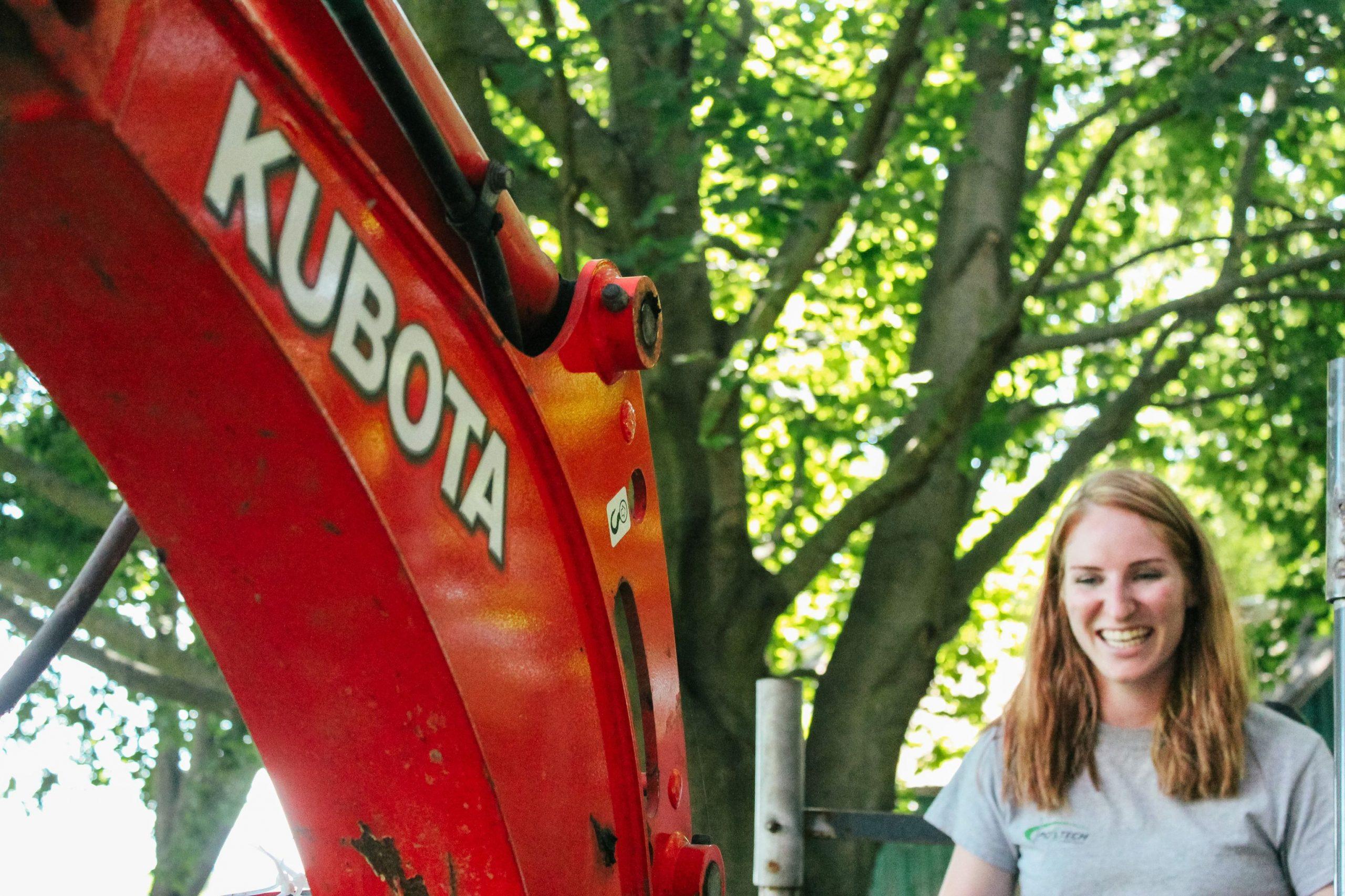 Lauren Gilleno always installs Postech Screw Piles with a smile