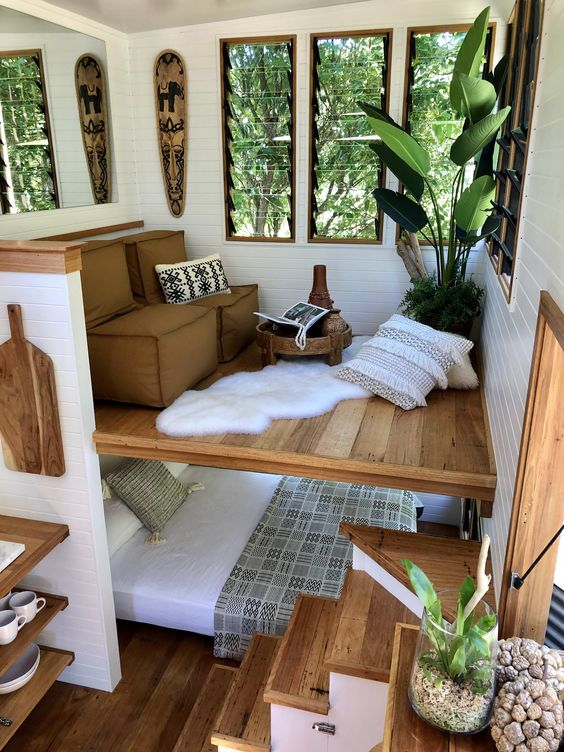 You see a mezzanine in a tiny house