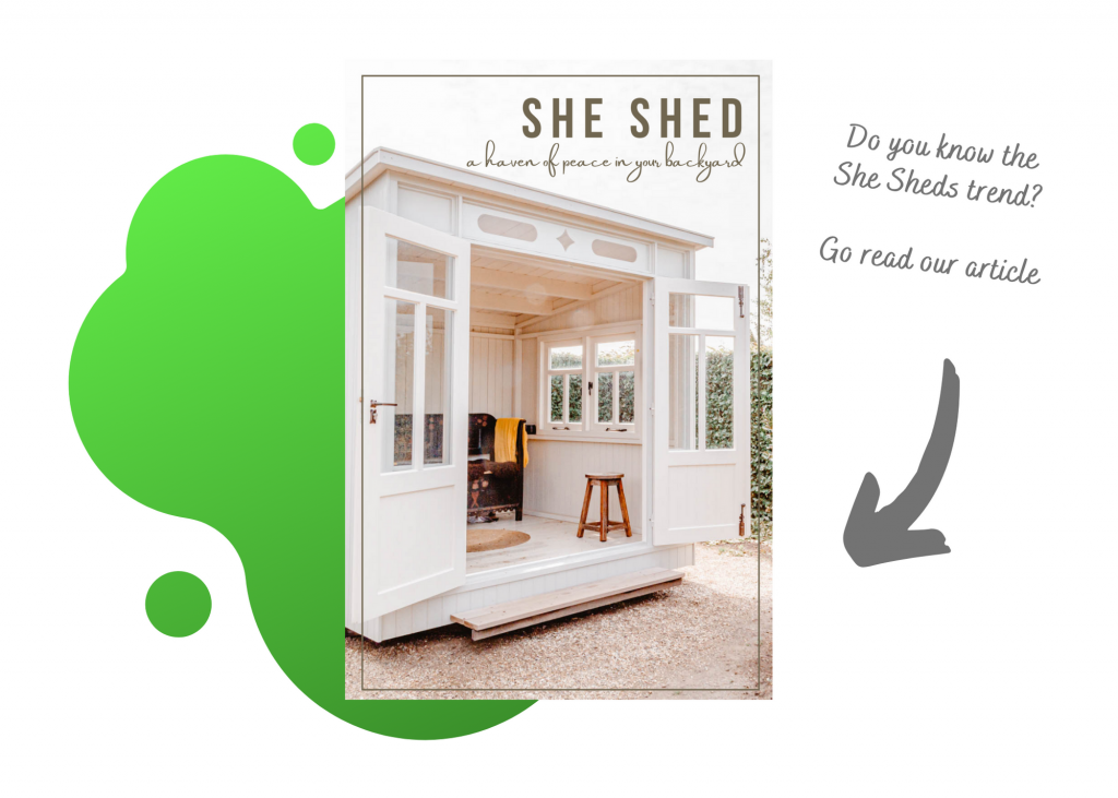 You can see a link to an article about she sheds.